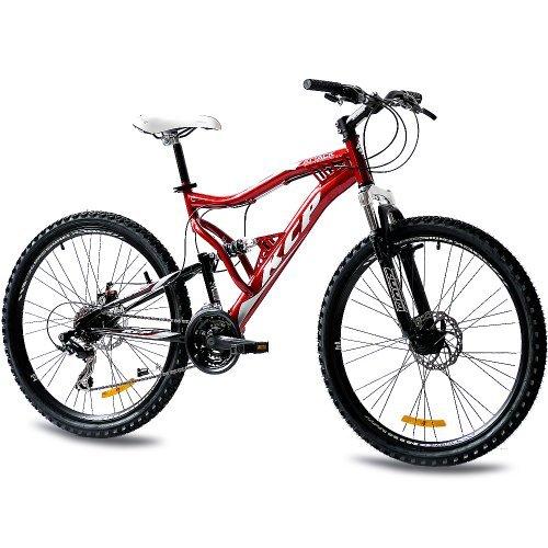 Bicicleta de montaña de 21 velocidades con doble suspensión KCP