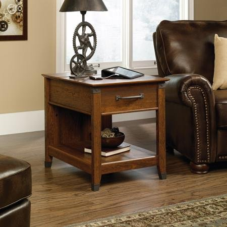 sauder-carson-forge-smartcenter-side-table-washington-cherry