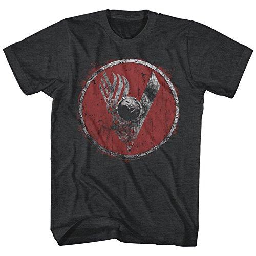 Vikings -  T-shirt - Uomo Nero  nero