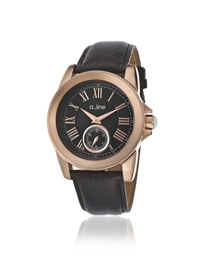 a_line Women's 80022-RG-01 Amare Black/Rose Watch