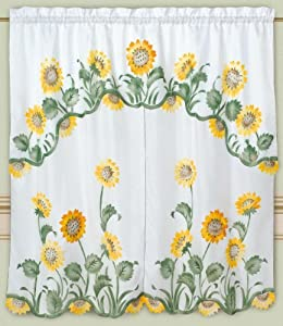 SUNFLOWERS KITCHEN CURTAINS | Curtain Design