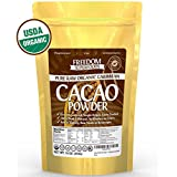 Organic Raw Cacao Powder - Best Dark Chocolate Taste - Pure, Natural, Unsweetened Cocoa - 1lb/ 16oz