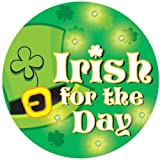 Creative Converting St. Patrick s Day Flashing Button, Irish for The Day