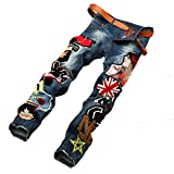 D Zroid Stitching Trousers Mens Jean Pant Jeans