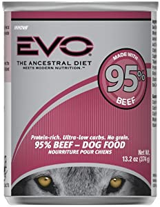 EVO 95% Beef Canned Dog Food - 12x13.2 oz