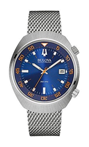Bulova - 96B232 - Lobster - Montre Mixte - Quartz Analogique - Cadran Bleu - Bracelet Acier Argent