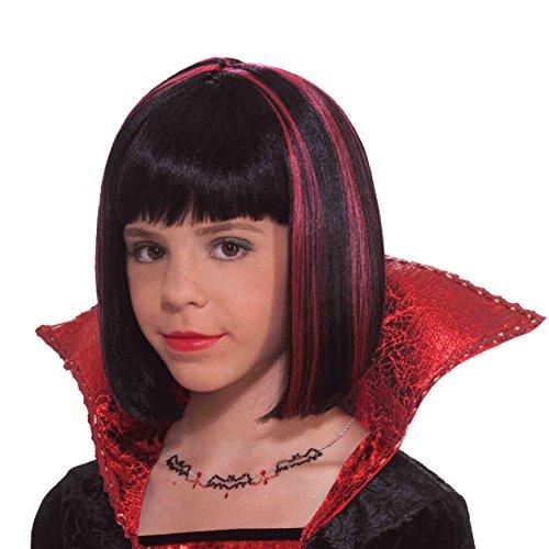 Forum Vampire Princess Child Wig, Black/Red