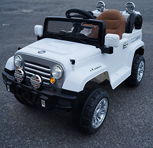 jeep style jj245 white ride on car for kids 2 5 years old with remote control little kid cars