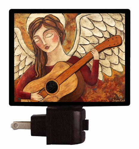 Angel Night Light - Comfort And Joy - Angel Playing Guitar Led Night Light front-1053087
