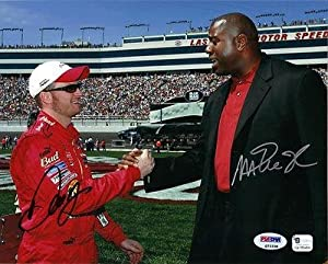 Signed Johnson Photograph - & Dale Earnhardt Jr DUAL 8x10 - PSA DNA Certified -... by Sports Memorabilia