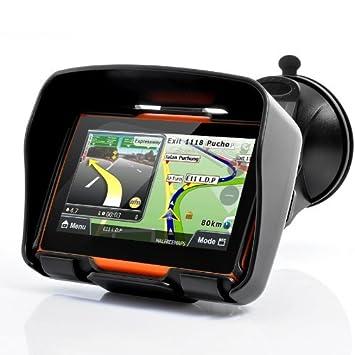 """BW® tous les Terrains 10,9cm Moto GPS Système de Navigation """"Rage-Imperméable, mémoire interne 4Go, Bluetooth"""