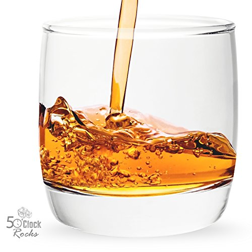 Scotch and Whiskey Glasses with Great Balance & Shape, Best Sipping Your Favorite Bourbon or Old Fashioned, FREE Mixologist Recipe Book - Set of 2 -6.5 oz Great Gift or Addition to Barware Collection (Recipe Book Set compare prices)