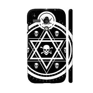 Colorpur Victorian Astrology Skull On Black Designer Mobile Phone Case Back Cover For Motorola Moto G1   Artist: Designer Chennai