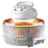Julie Diane 12 Litre 1300 Watt Halogen Oven Cooker Includes Extender Ring, Frying Pan, Steamer Tray, Roasting / Grilling Rack, Lid Stand & Removing Tongs