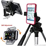 ChargerCity MegaGrab2 Easy-Adjust Smartphone Holder Mount & 360º Swivel Adjust Selfie Video Recording Camera Tripod Adapter for Apple iPhone 6s Plus 6 Samsung Galaxy S6 Edge Note 5 *Tripod not included