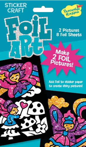 Peaceable Kingdom / Foil Art Fairies Sticker Craft Pack front-638655