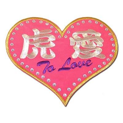【プロ野球 阪神タイガースグッズ】虎愛(ハート)ワッペンカラー:ピンク(ピンク縁、文字金)