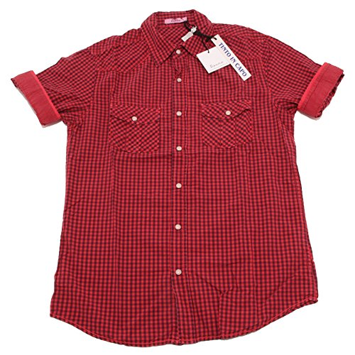 7202P camicia uomo quadretti BERNA manica corta shirt men short sleeves [L]