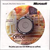 Microsoft Office Basique Edition 2003 w/SP2 - Licence et support - 1 PC - OEM - CD - Win - fran�ais (pack de 3)par Microsoft