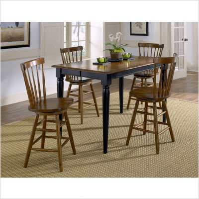 Buy Low Price Liberty Furniture Creations II Casual Gathering Dining Table in Black (48-T5454)