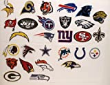 NFL FOOTBALL TEAM LOGO STICKERS - NFL Football Team Logos Birthday Party Favor Sticker Set Consisting of 28 Team Stickers Featuring Green Bay Packers, Miami Dolphins, Tennessee Titans, Denver Broncos, Tampa Bay Buccaneers, Buffalo Bills, Chicago Bears, Seattle Seahawks, Atlanta Falcons, Minnesota Vikings, Carolina Panthers, Jacksonville Jaguars, Philadelphia Eagles, Baltimore Ravens, New York Jets at Amazon.com