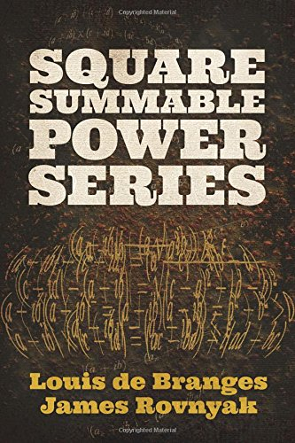 Square Summable Power Series (Dover Books on Mathematics)