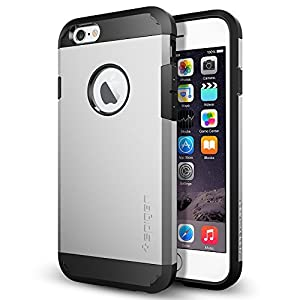 iPhone 6 Case, Spigen® [Tough Armor] Heavy Duty [Satin Silver] Dual Layer EXTREME Protection Cover Heavy Duty Case for iPhone 6 (2014) - Satin Silver (SGP10971)