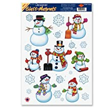 Snowman/Snowflake Clings Party Accessory (1 count) (16/Sh)