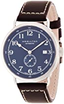 Hamilton Khaki Navy Pioneer Automatic Navy Dial Brown Leather Mens Watch H78455543
