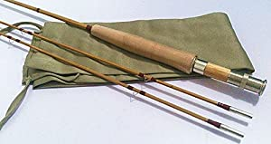 """split bamboo fly rod 7'0"""" for #4 line wt 2 piece with 2 tips from zhurod"""