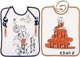 Babycalin Lot de 2 Bavoirs + Couverts Crazy Orange