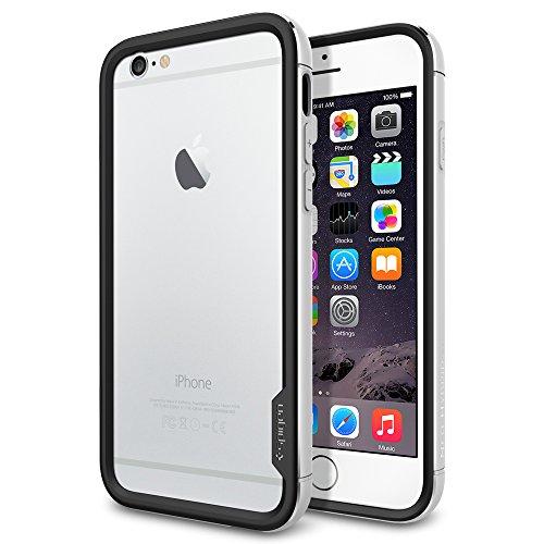 iPhone 6 ケース, Spigen® [ リアル アルミニウム バンパー] ネオ・ハイブリッドEX メタル iPhone 4.7 (2014)  The New iPhone アイフォン6 (国内正規品) (サテン・シルバー SGP11186)