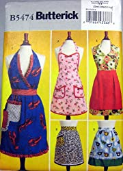 Butterick Sewing Pattern B5474 Aprons in 5 Styles Sizes S-M-L