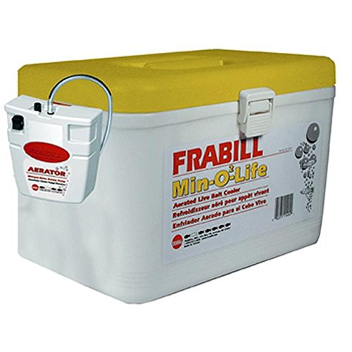 Frabill Personal Bait Station, 8-Quart, White/Yellow (Frabill Cooler compare prices)