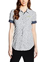 Meltin Pot Camisa Mujer Rt/Chalon (Blanco / Denim)