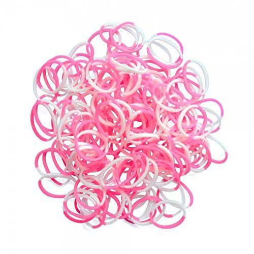 Choon's Design LLC Rainbow Loom Pink & White Silicone Bands Arts & Crafts