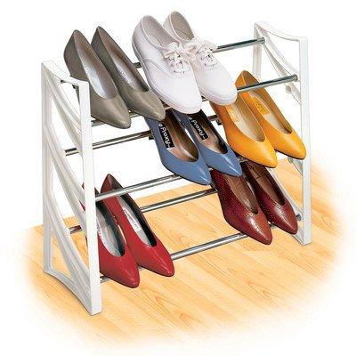 Lynk 145401 9-Pair Convertible Shoe Rack WhiteB0000TQERE : image