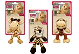 Kong CAT BRAIDZ SAFARI Animals Catnip Dental Attack + Hind Paw Kitty Toy (BS4)