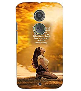 PrintDhaba Quote D-2596 Back Case Cover for MOTOROLA MOTO X2 (Multi-Coloured)