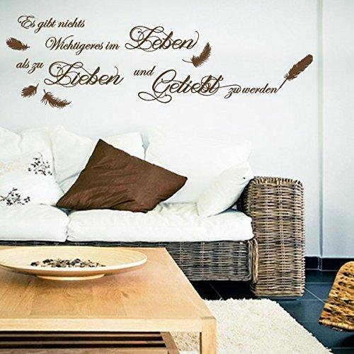 es gibt nichts wichtigeres im leben wandtattoo schwarz 25 x 25 wandsticker wanddekoration. Black Bedroom Furniture Sets. Home Design Ideas