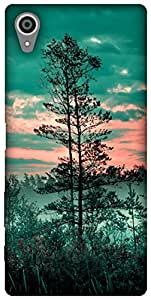 The Racoon Grip printed designer hard back mobile phone case cover for Sony Xperia X. (foliage fo)