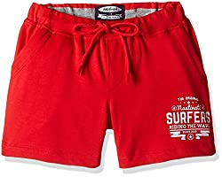 Nauti Nati Boys' Shorts (NSS16-606_Red_5 - 6 Years)