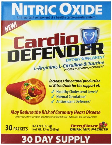 Cardio Defender Nitric Oxide Antioxidant Supplement, 30 Count
