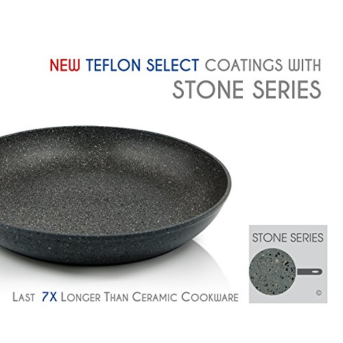 "TECHEF - Infinity Collection /12"" Frying Pan, Coated 4 times with the new Teflon Stone Coating with Ceramic Particles (PFOA Free) (12-Inch)"