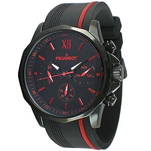 Amazon.com: Peugeot Men's Chronograph Sport Watch with