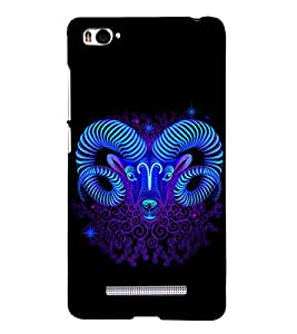 Aries Sign 3D Hard Polycarbonate Designer Back Case Cover for Xiaomi Mi 4i :: Xiaomi Redmi Mi 4i