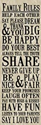 Artissimo Designs 33588CPBG0 Family Rules 1-Piece Sign Image Printed Canvas Art, 30 by 15-Inch, Burlap
