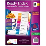 Avery Ready Index Table of Contents Dividers, 8-Tab Set, 6 Sets (11186)