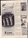 Kayser Gloves Hosiery Underwear Buy War Bonds 1942 Original Vintage Advertisment