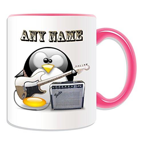 Personalisiertes-Geschenk-E-Bass-Gitarre-3-Tasse-Design-Pinguin-in-Kostm-Thema-Farbe-Optionen-alle-NachrichtName-auf-Ihre-einzigartige-Musik-Musikinstrument